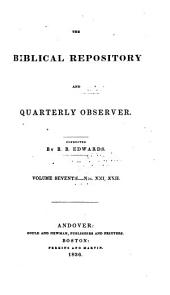 The Biblical Repository and Quarterly Observer: Volume 7