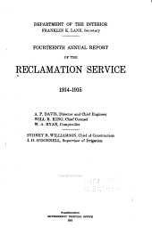 Annual Report of the Reclamation Service: Volume 14