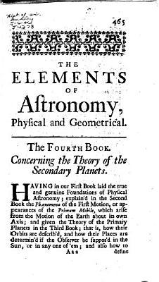 The Elements Of Astronomy Physical And Geometrical