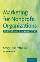 Marketing for Nonprofit Organizations PDF