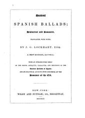 Ancient Spanish Ballads: Historical and Romantic