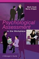 Psychological Assessment in the Workplace PDF