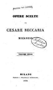 Opere Scelte di Cesare Beccaria Milanese