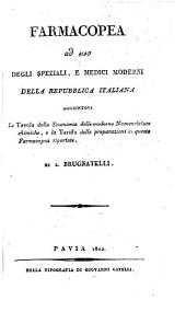 Farmacopea ad uso degli sperziali: e medici moderni della republica Italiana