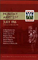 Monthly Army List July1916 PDF