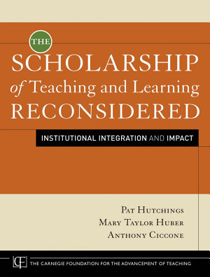 The Scholarship of Teaching and Learning Reconsidered PDF