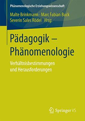 P  dagogik   Ph  nomenologie PDF