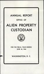 Annual Report - Office of Alien Property