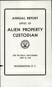 Annual Report   Office of Alien Property PDF