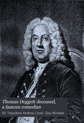 Thomas Doggett Deceased, a Famous Comedian: Part I. The Man