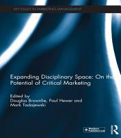 Expanding Disciplinary Space  On the Potential of Critical Marketing PDF