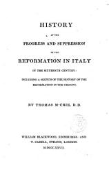 History Of The Progress And Suppresion Of The Reformation In Italy Book PDF