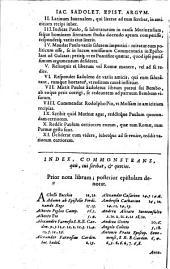 Opera quae exstant omnia... ad haec Antonii Florebelli... orationes III.
