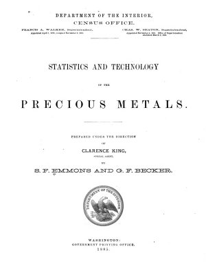 Statistics and technology of the precious metals
