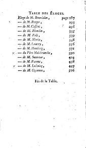 Eloges des académiciens de l'Académie Royale des sciences, morts depuis l'an 1699: Volume1