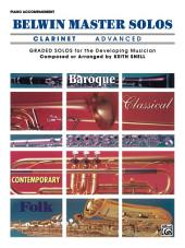 Belwin Master Solos - Clarinet, Advanced, Volume 1: Piano Accompaniment