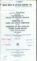 Health Impact of Low level Radiation  1979 PDF