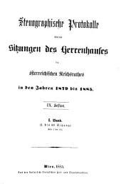 Stenographische Protokolle: Volume 1