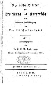 Rheinische Blätter für Erziehung und Unterricht: Band 2