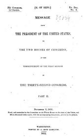 Message of the President of the United States Communicated to the Two Houses of Congress ....: Page 2