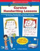 Cursive Handwriting Lessons PDF