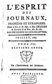 L'Esprit des journaux franc̜ais et étrangers: Volume77