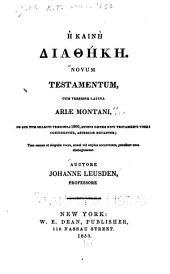 Novum Testamentum: cum versione Latina ...