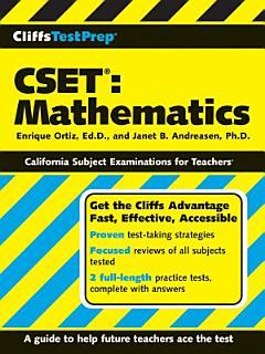 CliffsTestPrep CSET  Mathematics Book