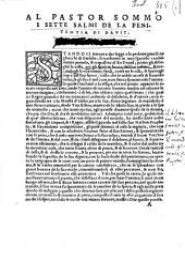 Al beatissimo Givlio terzo papa [...] Il Genesi l'Humanita di Christo, & i Salmi: Parte 3