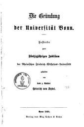 ¬Die Gründung der Universität Bonn0