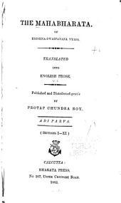 The Mahabharata of Krishna-Dwaipayana Vyasa: Volume 1