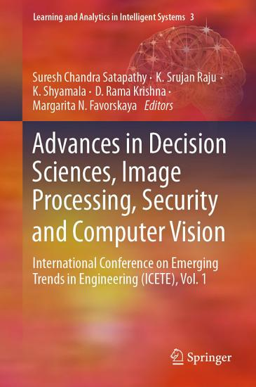 Advances in Decision Sciences  Image Processing  Security and Computer Vision PDF