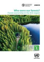 Who Owns our Forests  Forest Ownership in the ECE Region PDF
