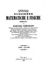 Annali di scienze matematiche e fisiche: Volume 7