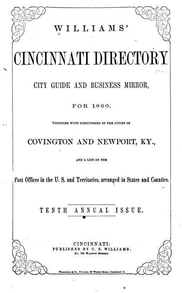 Williams  Cincinnati Directory     PDF