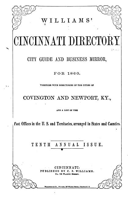 Williams  Cincinnati Directory     PDF