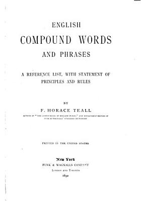 English Compound Words and Phrases PDF