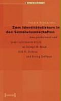 Zum Identit  tsdiskurs in den Sozialwissenschaften PDF