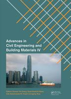 Advances in Civil Engineering and Building Materials IV PDF