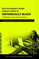 Earn Accredited College Degrees Online at Historically Black Colleges and Universities PDF