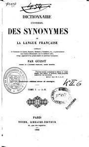 Dictionnaire universel des synonymes de la langue fran  aise PDF