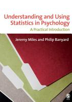 Understanding and Using Statistics in Psychology PDF