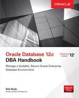 Oracle Database 12c DBA Handbook PDF