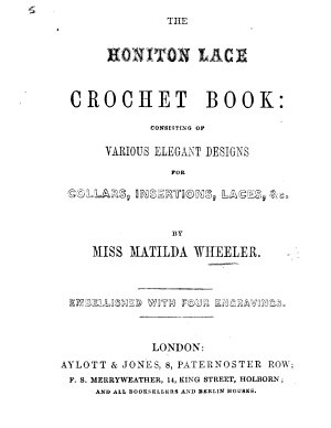 The Honiton Lace Crochet Book PDF