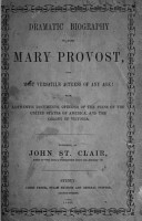 Dramatic Biography of Mary Provost  the Most Versatile Actress of Any Age PDF