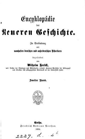 Encyklop  die der neueren Geschichte  herausg  von W  Herbst PDF