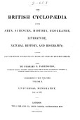 The British Cyclopaedia Of The Arts Sciences History Geography Literature Natural History And Biography
