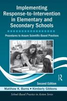 Implementing Response to Intervention in Elementary and Secondary Schools PDF