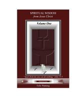 Spiritual Wisdom From Jesus Christ Pdf