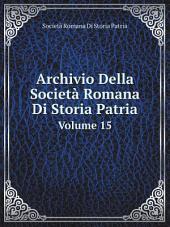 Archivio Della Societ? Romana Di Storia Patria
